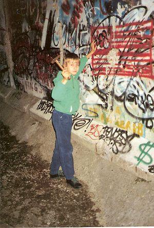 Berliner Mauer Anfang 1990