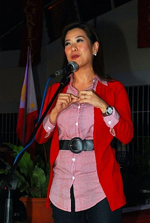 Bernadette Sembrano - Sembrano during the 9th Gawad Tanglaw as she receives the Best TV Anchor award