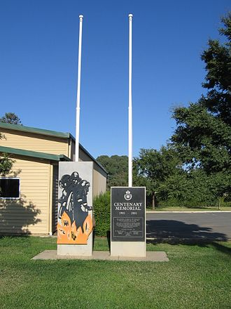 New South Wales Rural Fire Service - RFS memorial in Berrigan commemorating the establishment of the first bush fire brigade in New South Wales.