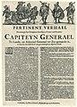 Beschrijving van de gebeurtenissen rond de benoeming van Willem III tot kapitein-generaal, 1672 Pertinent Verhael Hoedanigh sijn Hoogheyt den Heere Prince van Oranjen Capiteyn Generael Te Lande, en Admirael Generael ter, RP-P-OB-77.042.jpg
