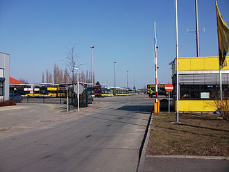 Bus transport in Berlin - The bus depot of Indira-Gandhi-Straße,  Alt-Hohenschönhausen