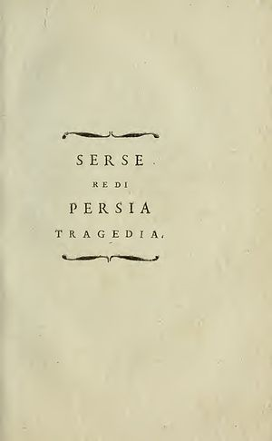 Saverio Bettinelli - Serse re di Persia, 1800