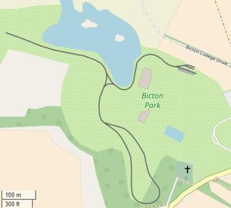 Line of the Bicton Woodland Railway