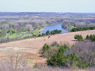 Big Blue River (Kansas) - Big Blue River south of Tuttle Creek Lake