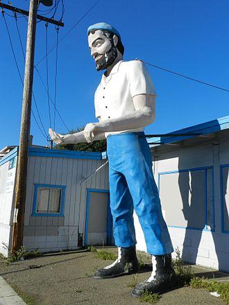 Downtown Hayward - Image: Big Mike, Muffler Man, Hayward, California