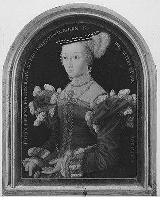Countess Palatine Helena of Simmern - Helena of Simmern by Hans Besser