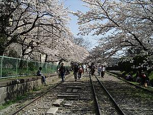 Lake Biwa Canal - Biwako Incline in April 2005.