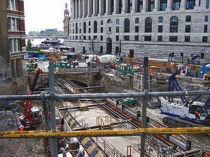 Thameslink Programme - Image: Blackfriars tube station building site