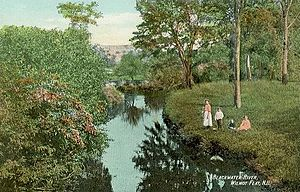 Wilmot, New Hampshire - Blackwater River c. 1910