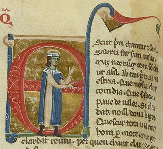 Lanfranc Cigala - Lanfranc in a 13th-century chansonnier