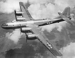 Heavy bomber - The B-29 Superfortress, a heavy bomber.