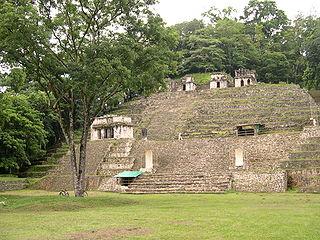 Bonampak human settlement in Mexico