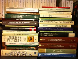 Small sampling of books that Mieder has written or edited