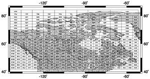 Borden System - Index map to major Borden Blocks
