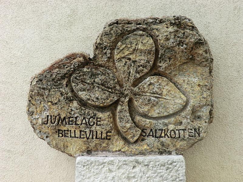 Borne du jumelage (Belleville).