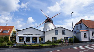 Gudhjem - Gudhjem is host to Denmark's largest windmill by volume and wingspan, built in 1893.