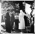 Borrestevnet 1943, Vidkun Quisling inspiserer sanitetskorpset. (8617784773).jpg
