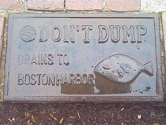 Boston Harbor - Signage on the streets of Boston
