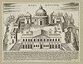 Bouwwerken op de Janiculum te Rome Mons Ianiculus (titel op object) Antieke monumenten (serietitel) Antiquae Urbis Splendor (serietitel), RP-P-2016-345-24-1.jpg