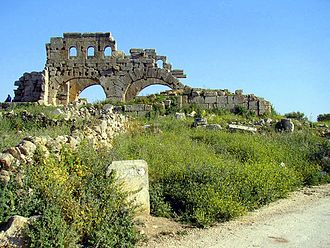 The ruins of the Maronite basilica in Barad Brad Northern Basilica.jpg
