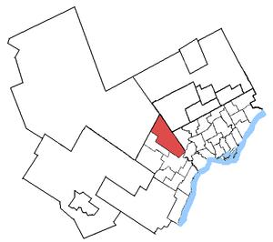 Bramalea—Gore—Malton - Bramalea—Gore—Malton in relation to neighbouring electoral districts
