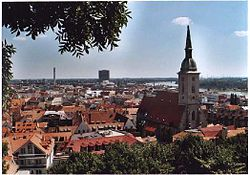 St. Martin's Concathedral in Bratislava was the coronation church of the Kingdom of Hungary for three centuries
