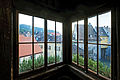 Bregenz, Martinsturm, Ausblick vom Stiegenaufgang auf Martinsgasse.jpg