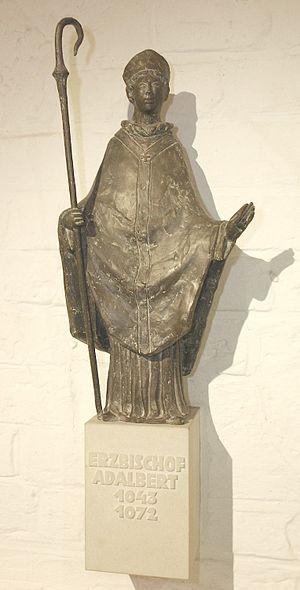 Adalbert of Hamburg - Modern statue, Bremen Cathedral