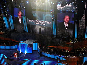 Brian Schweitzer - Schweitzer speaks during the second day of the 2008 Democratic National Convention in Denver, Colorado.