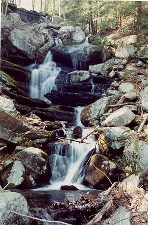Erving, Massachusetts - Briggs Brook Falls is located along the Metacomet-Monadnock Trail