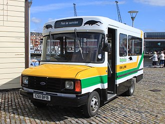 Martin Walter of Folkestone - Badgerline minibus on a Ford Transit chassis