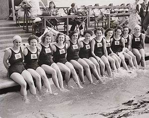 Great Britain at the 1948 Summer Olympics - British Women's Olympic swimming team, London, 1948