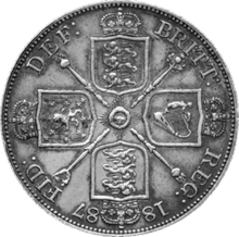British double florin 1887 reverse.png