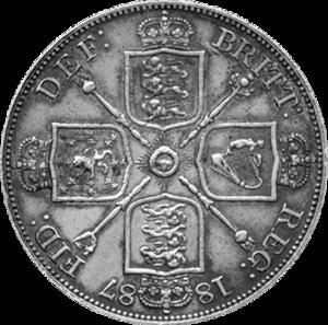 Double florin - Image: British double florin 1887 reverse