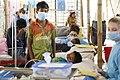 British nurses treating Rohingya children suffering from diphtheria in Bangladesh (24855640907).jpg