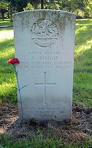 Bromsgrove cemetery CWGC Bishop