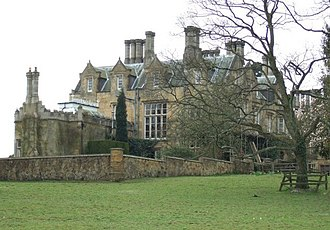 Oliver Reed - Broome Hall, Surrey, Reed's home from the late 1960s to 1980s