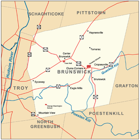 Brunswick New York with hamlets schools and town hall.png