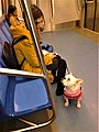 Bucharest, Romania. Metrou. Love between the girl and her dog.jpg