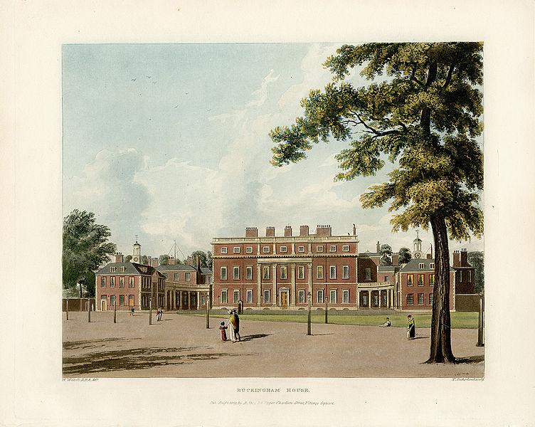 File Buckingham House From Pyne 39 S Royal Residences 1819 Panteek