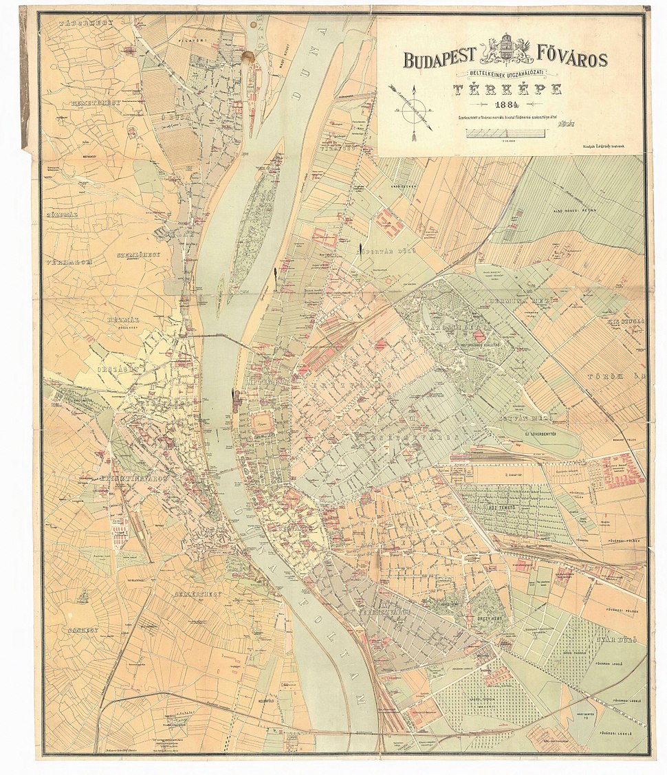 Budapest map 1884