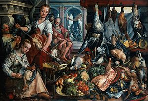 Bueckelaer, Joachim - Well-Stocked Kitchen, an...