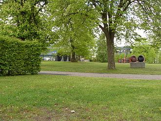 Büdelsdorf - Carlshütte (2010), art and cultural center Kunst in der Carlshütte (KiC)  with sculpture park attached to it