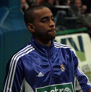 Louis Bullock - Bullock warming up with Real Madrid.
