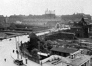 Berlin Warschauer Straße station - Warschauer Brücke and Warschauer Straße station (1930)