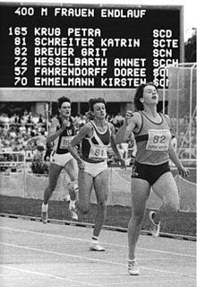 Grit Breuer German sprinter