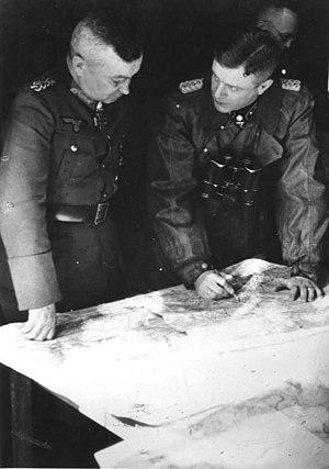 Walter Model - Walter Model (left) with SS-Brigadeführer Heinz Harmel