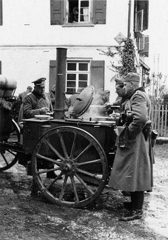 Field kitchen - German field kitchen, Second World War