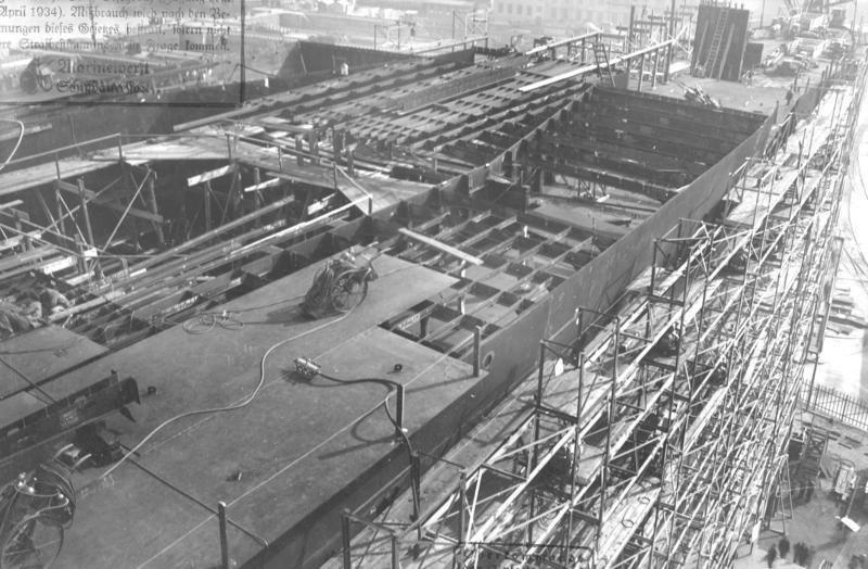 "Bundesarchiv RM 25 Bild-13, Flugzeugträger ""Graf Zeppelin"", Bau"