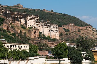 Bundi State - View of the Garh Palace in Bundi